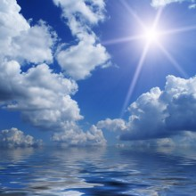 Sun, clouds and sea a